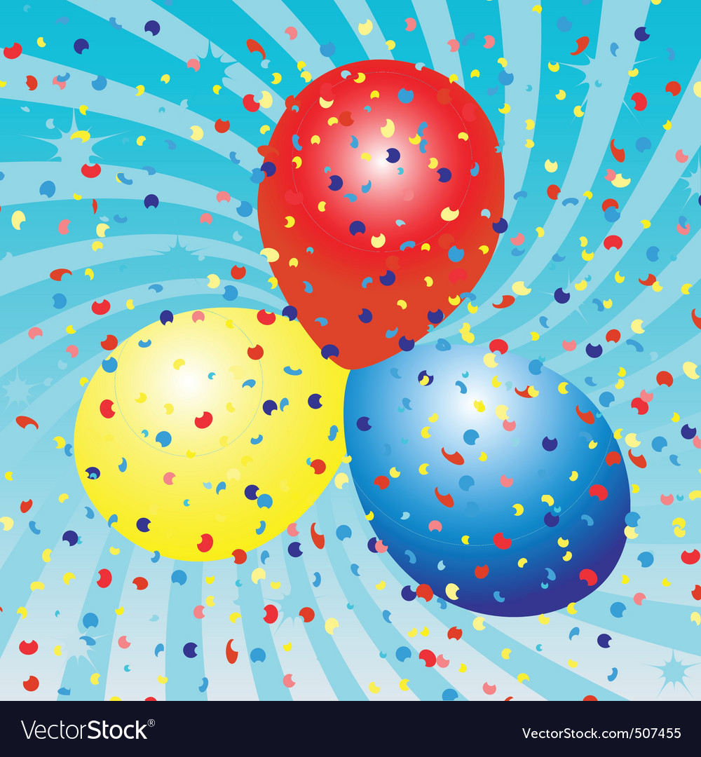 Balloons celebration vector | Price: 1 Credit (USD $1)