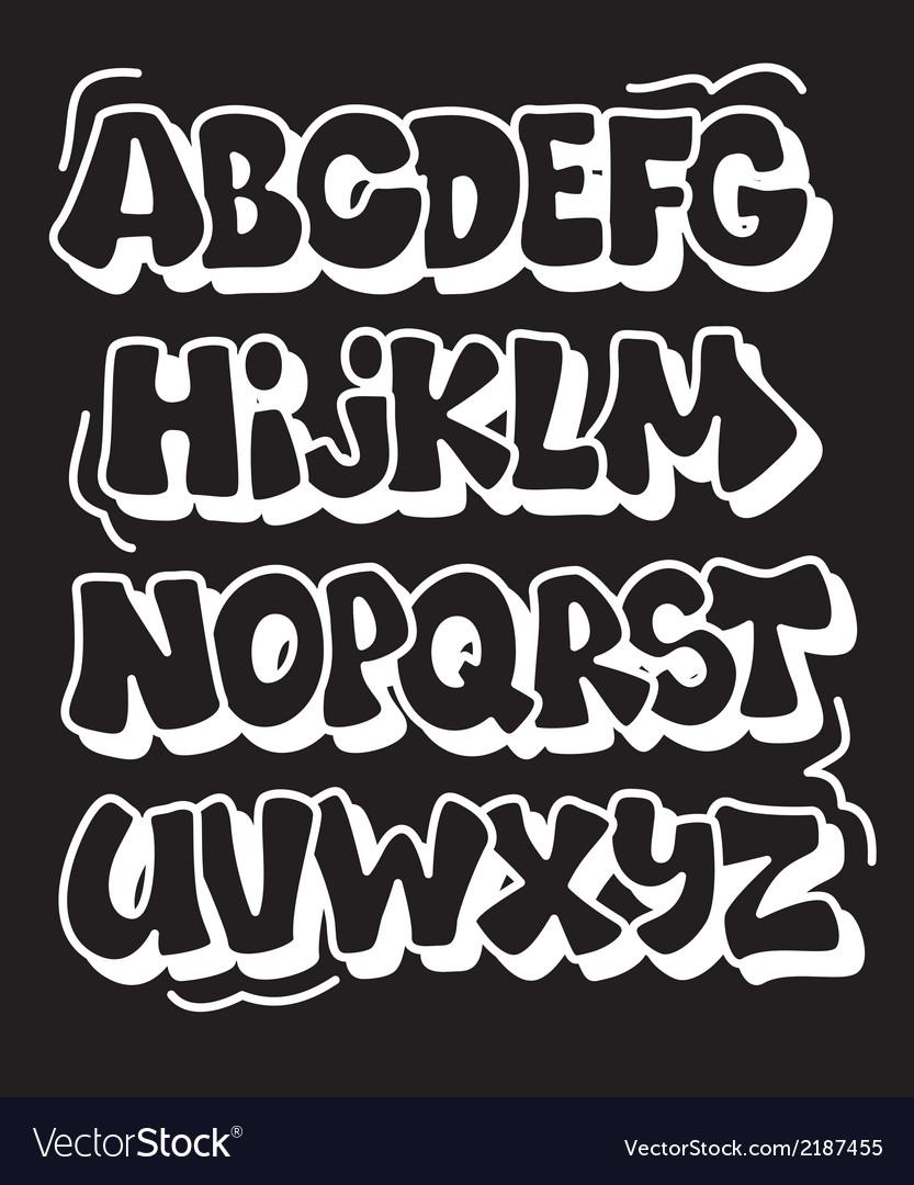 Comics graffiti style font type alphabet vector | Price: 1 Credit (USD $1)