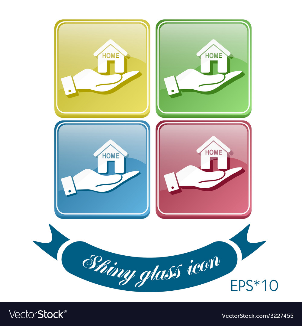 Hand holding a house icon home sign vector | Price: 1 Credit (USD $1)