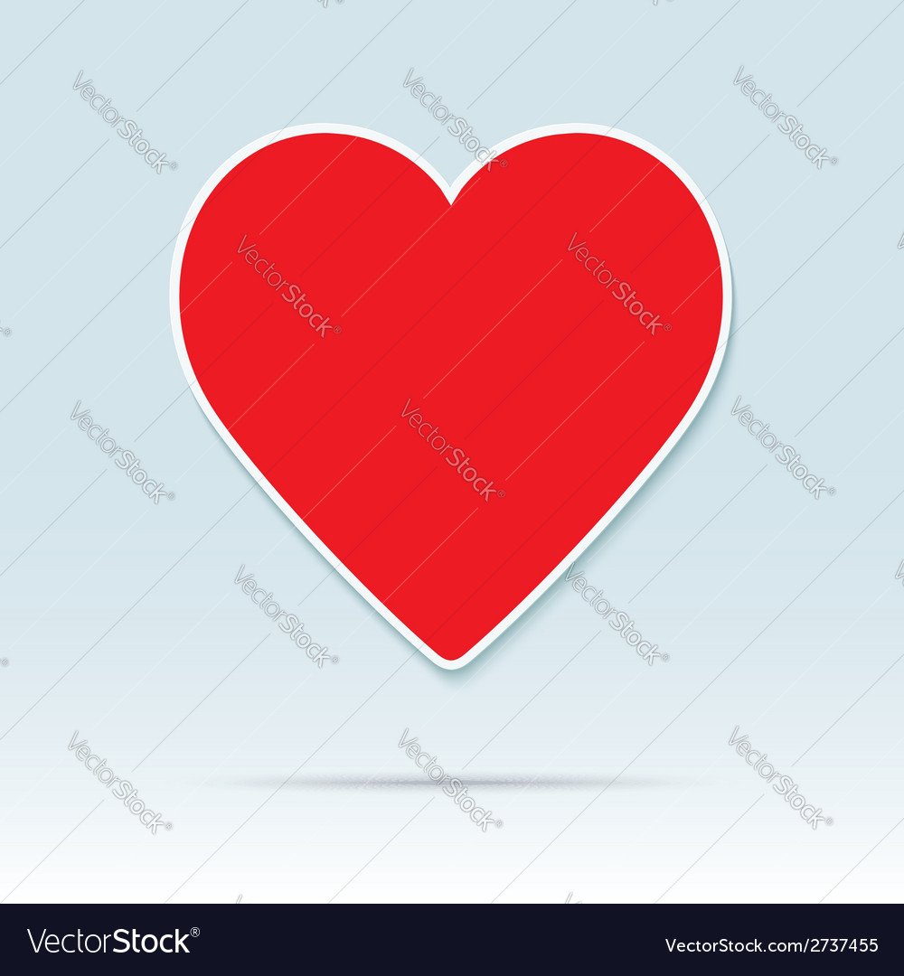 Red heart icon vector | Price: 1 Credit (USD $1)