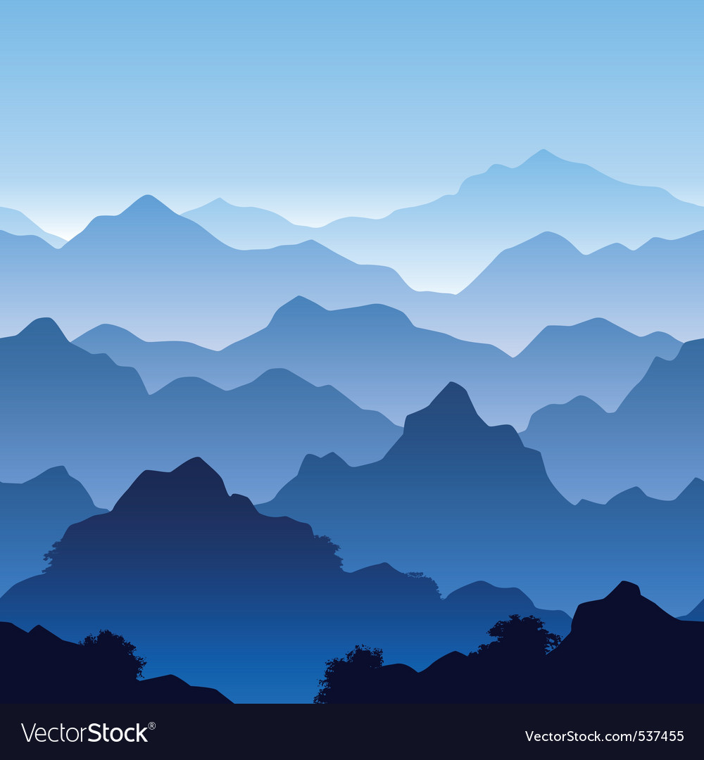 Seamless mountain landscape vector | Price: 1 Credit (USD $1)