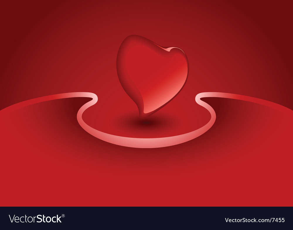 Valentine greeting card with heart vector | Price: 1 Credit (USD $1)
