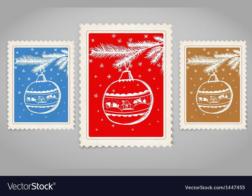 Vintage post stamp vector   Price: 1 Credit (USD $1)