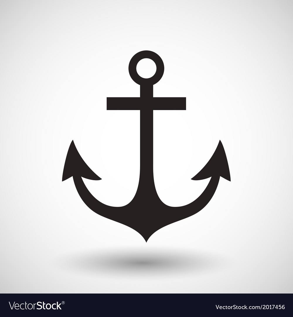Anchor symbol on gray background vector | Price: 1 Credit (USD $1)