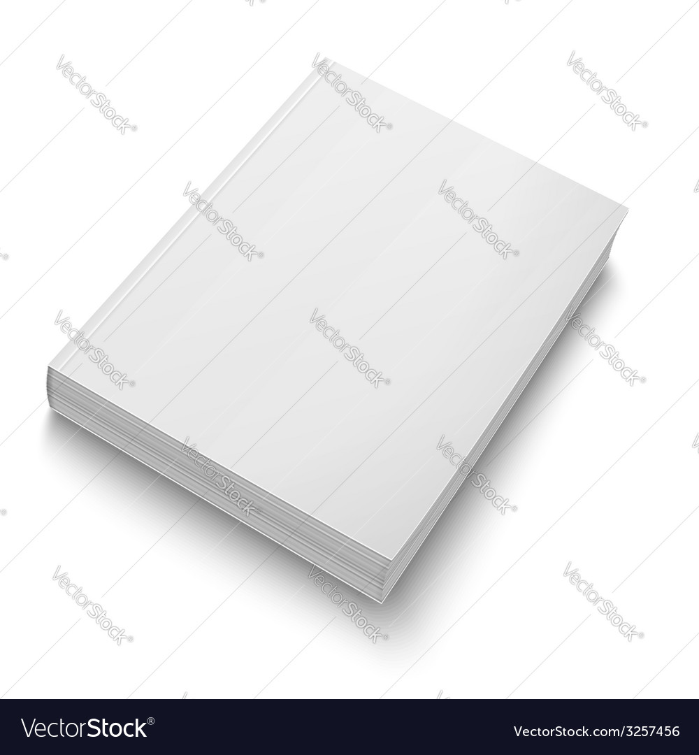 Blank softcover book template on white vector | Price: 1 Credit (USD $1)