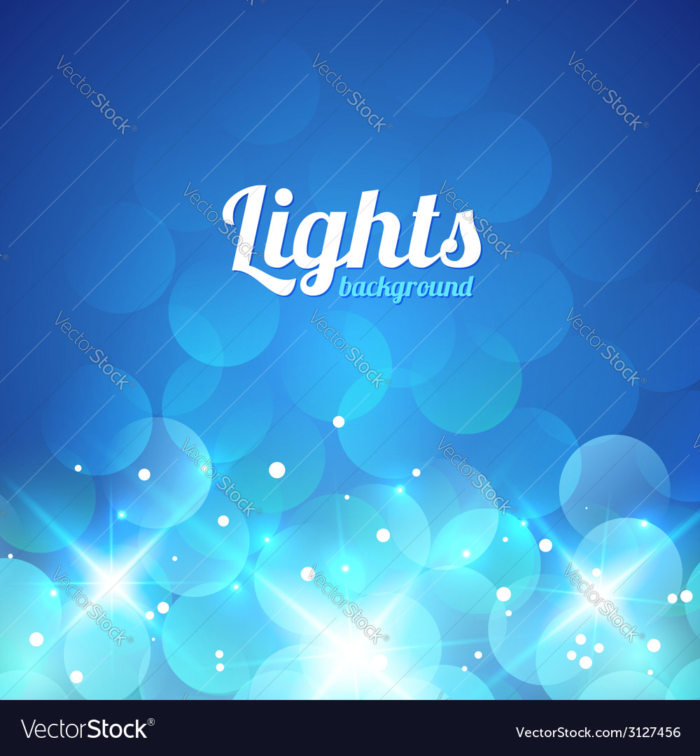Blue violet bokeh abstract light background vector | Price: 1 Credit (USD $1)