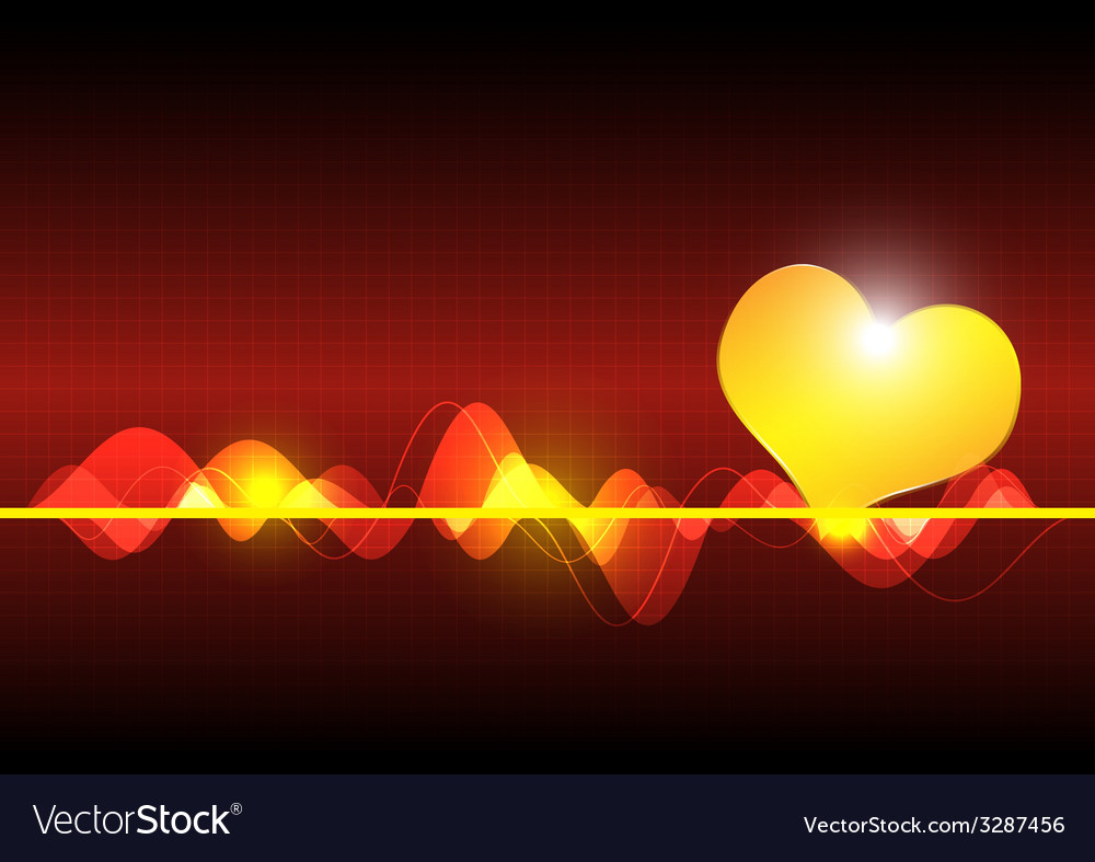 Cardiography scanning heart background vector | Price: 1 Credit (USD $1)