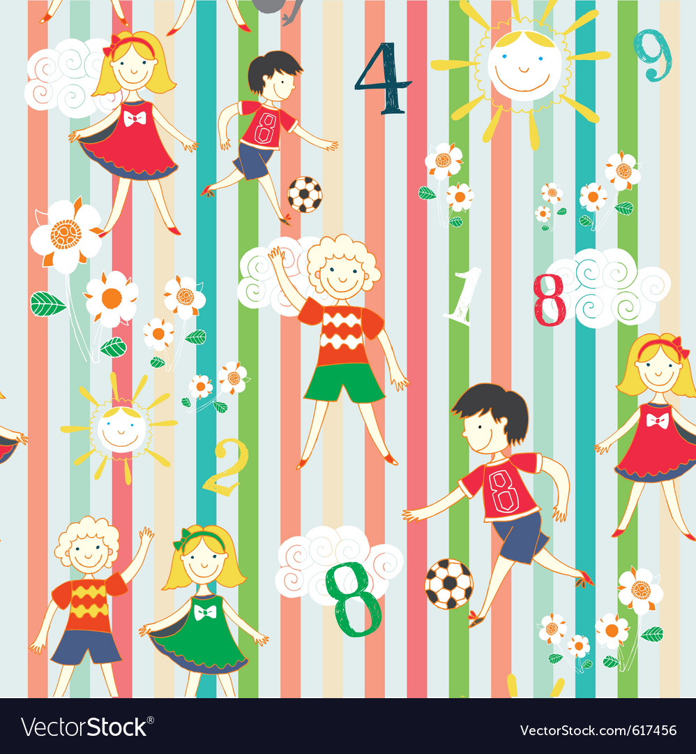Children playing background vector | Price: 1 Credit (USD $1)