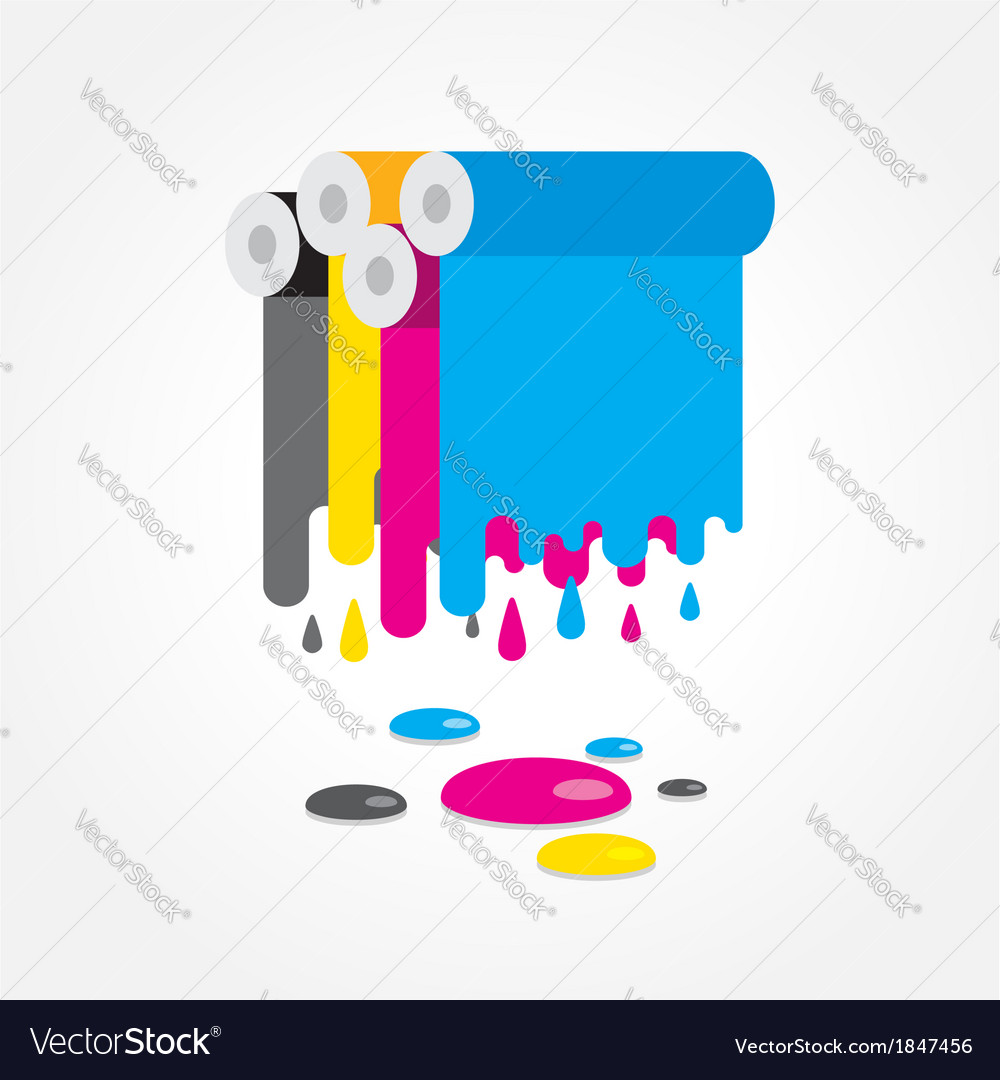 Cmyk print colored roll vector | Price: 1 Credit (USD $1)
