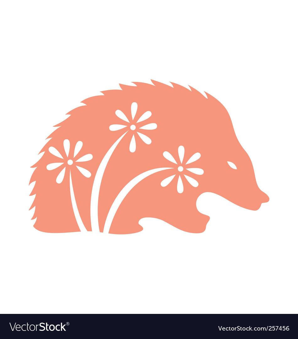Decorative porcupine vector | Price: 1 Credit (USD $1)