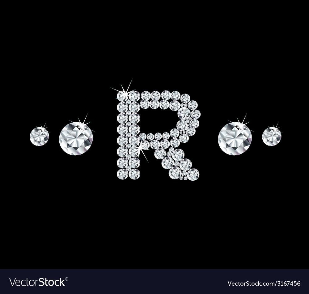 Diamond alphabetic letter r vector   Price: 1 Credit (USD $1)