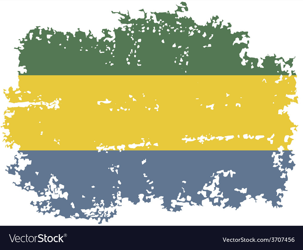 Gabon grunge flag vector | Price: 1 Credit (USD $1)