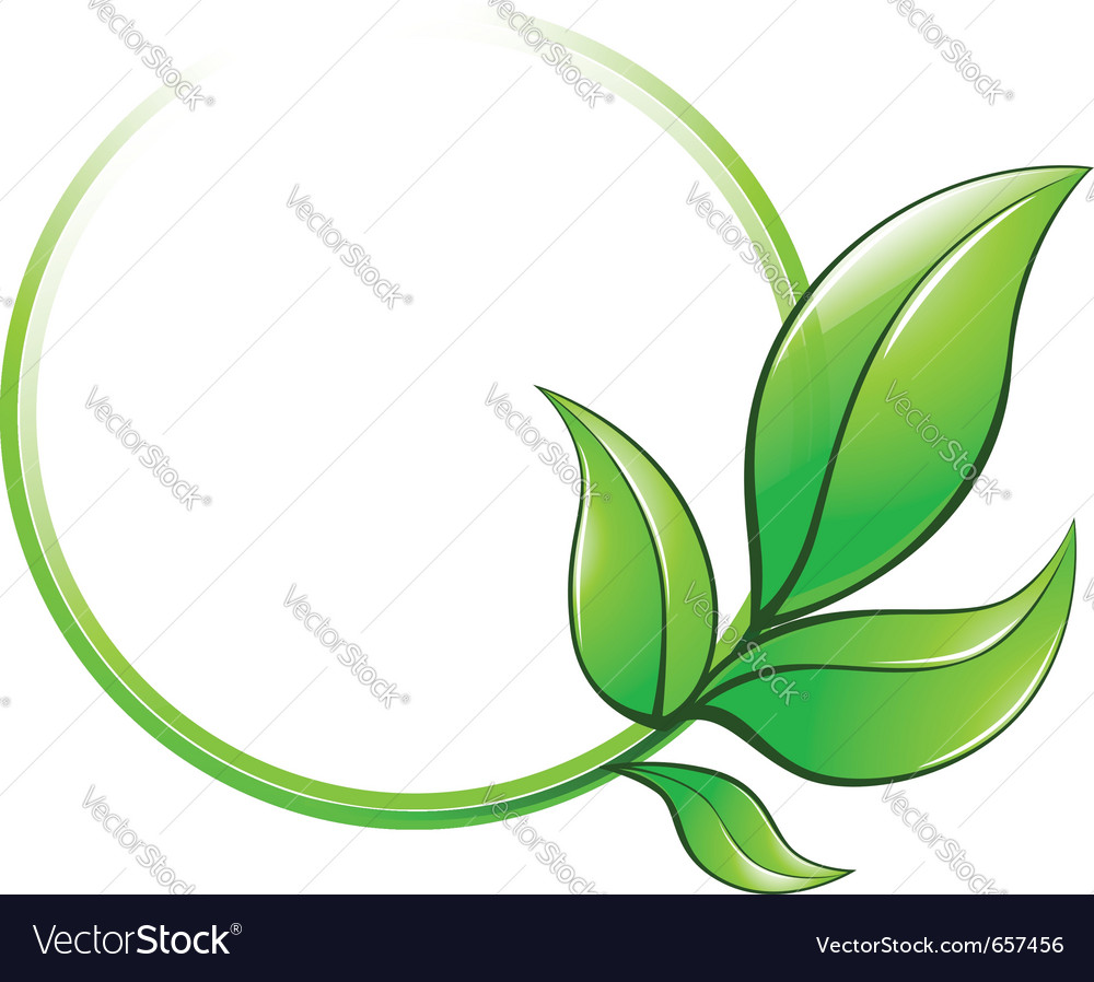 Green leaves frame vector   Price: 1 Credit (USD $1)