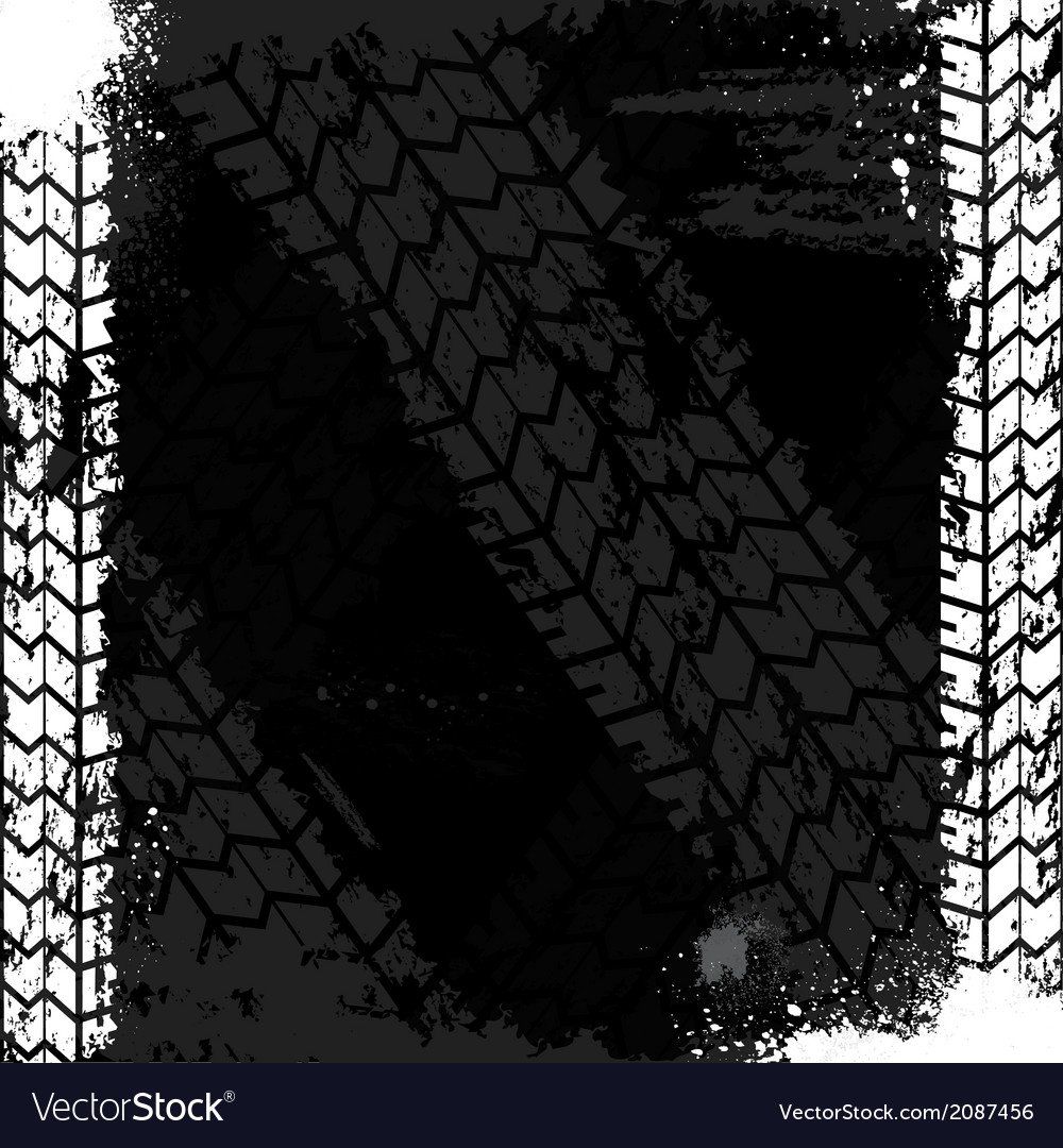 Grunge tire track backgound vector | Price: 1 Credit (USD $1)