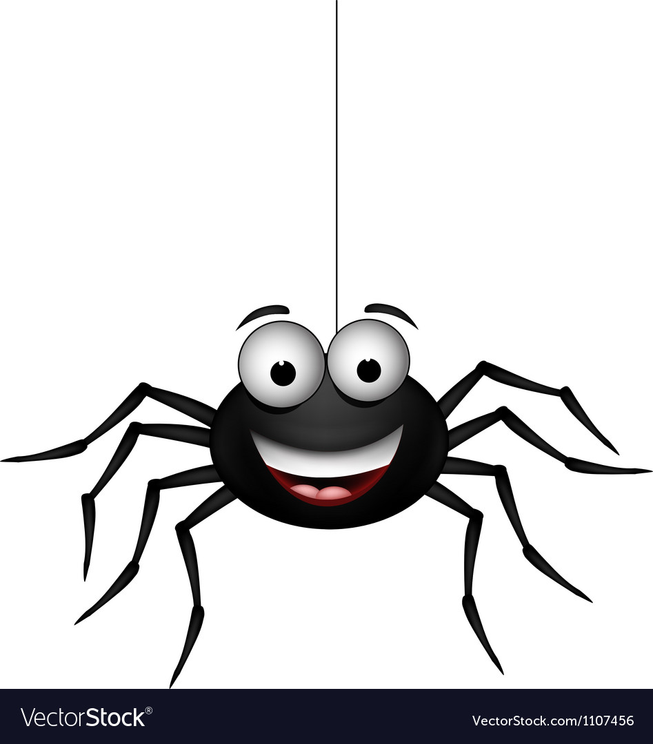 Happy spider vector | Price: 1 Credit (USD $1)