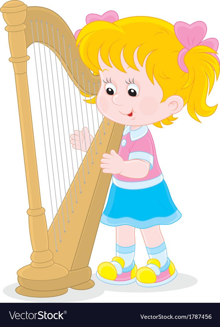 Harpist vector | Price: 1 Credit (USD $1)