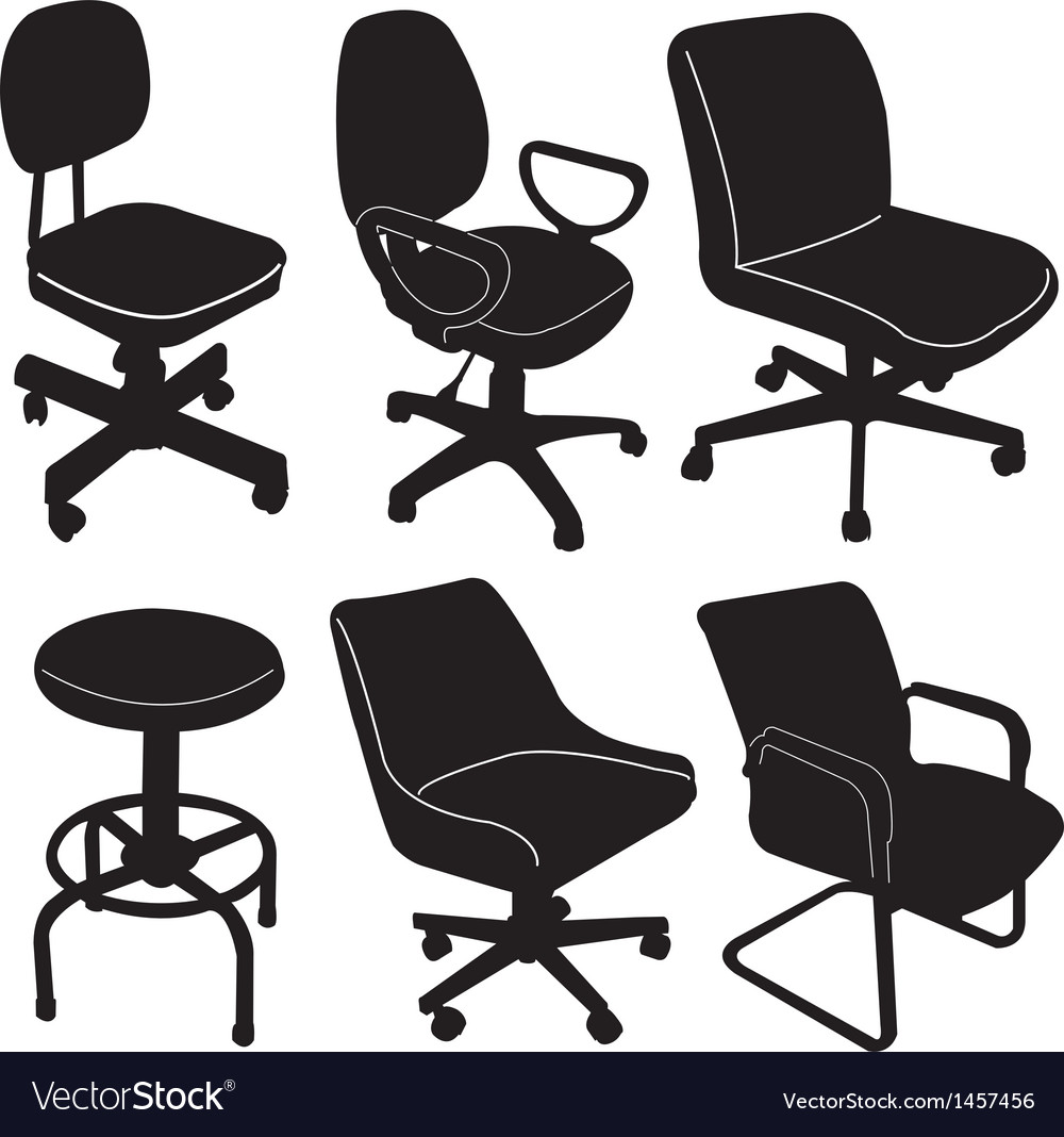 Office chair silhouette vector | Price: 1 Credit (USD $1)