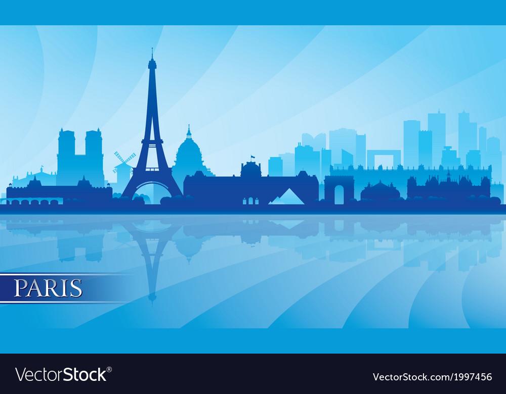 Paris city skyline silhouette background vector | Price: 1 Credit (USD $1)