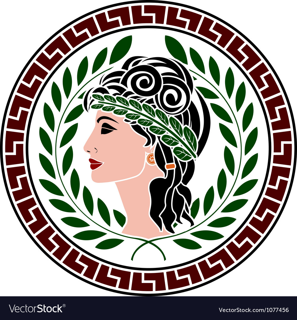Patrician women stencil second variant vector | Price: 1 Credit (USD $1)