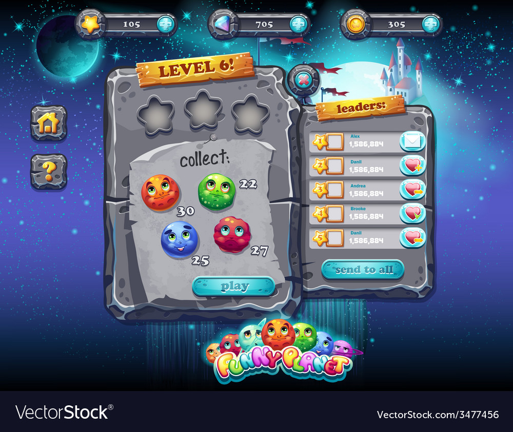 User interface for computer games and web design vector | Price: 3 Credit (USD $3)