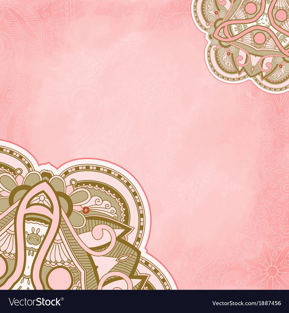 Vintage ornamental floral template vector | Price: 1 Credit (USD $1)