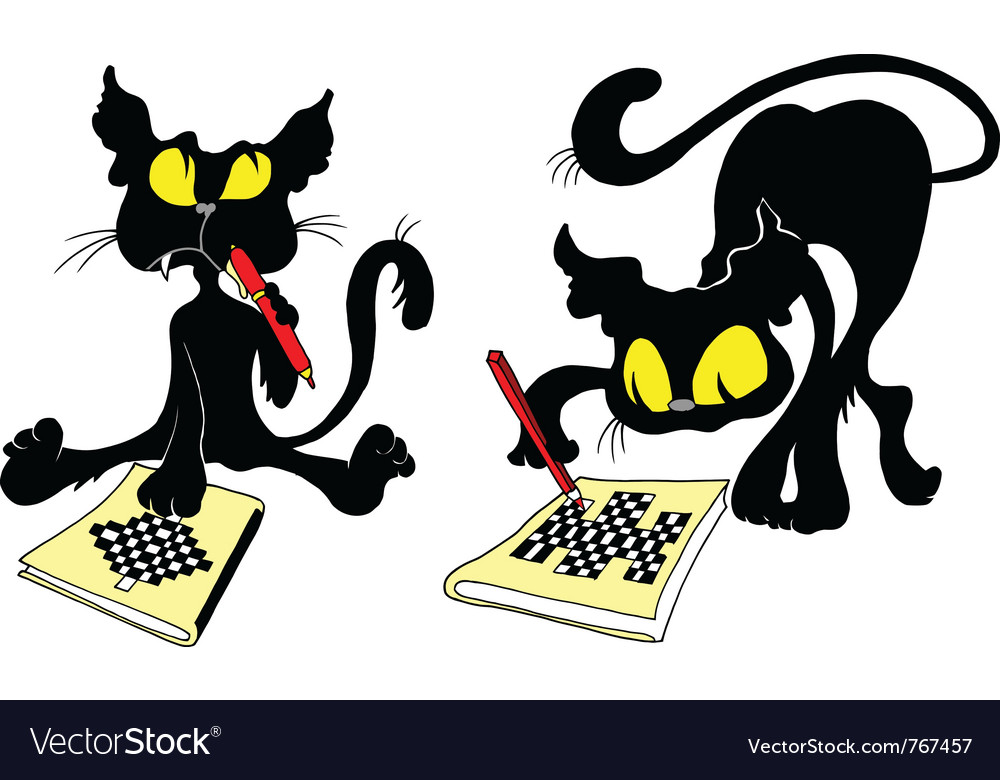 Cats and chess vector | Price: 1 Credit (USD $1)