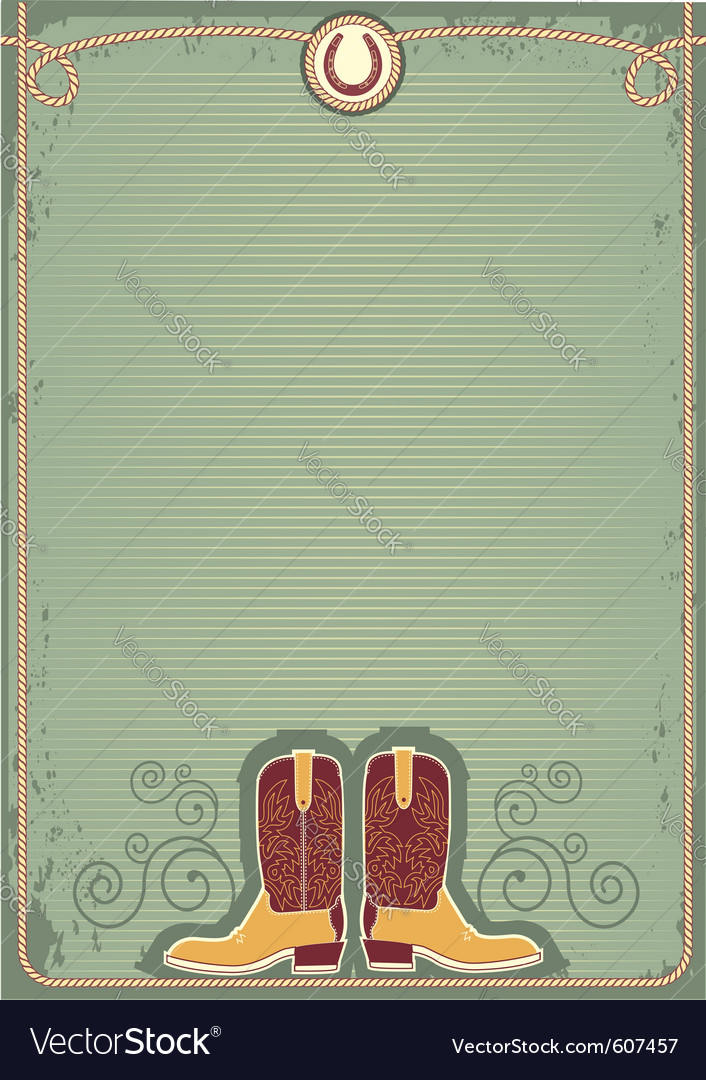 Cowboy boots vector | Price: 1 Credit (USD $1)