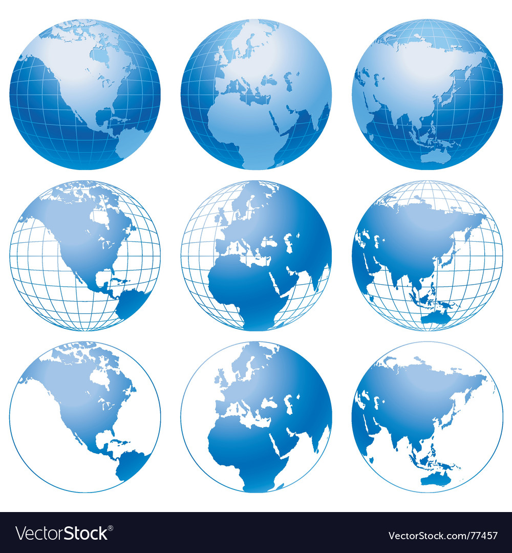 Earth icons vector   Price: 1 Credit (USD $1)