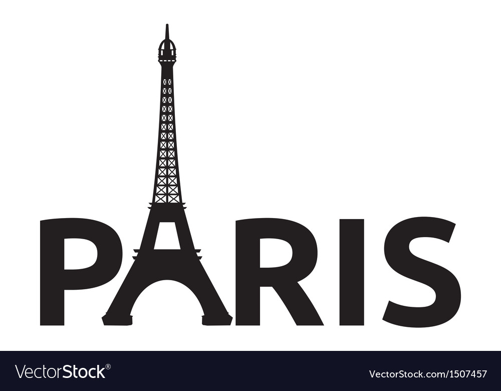 Paris - eiffel tower retro card vector | Price: 1 Credit (USD $1)