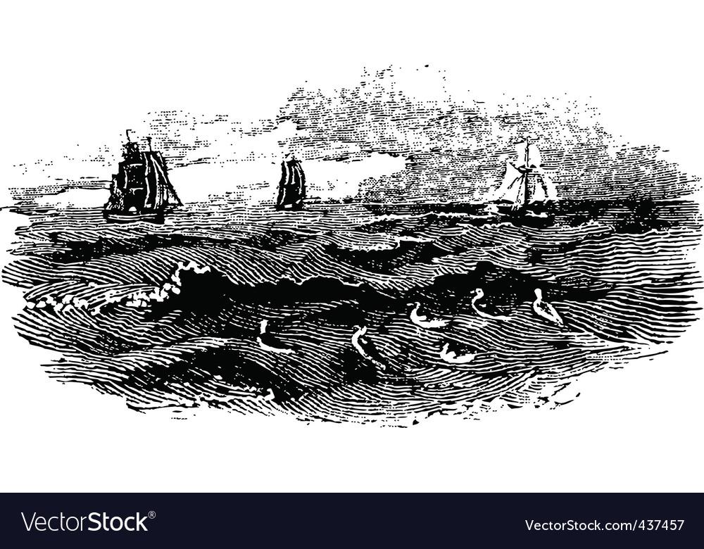 Raging sea vector | Price: 1 Credit (USD $1)