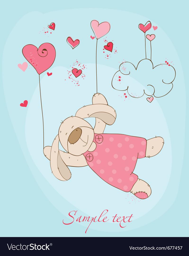 Romantic love card vector | Price: 1 Credit (USD $1)