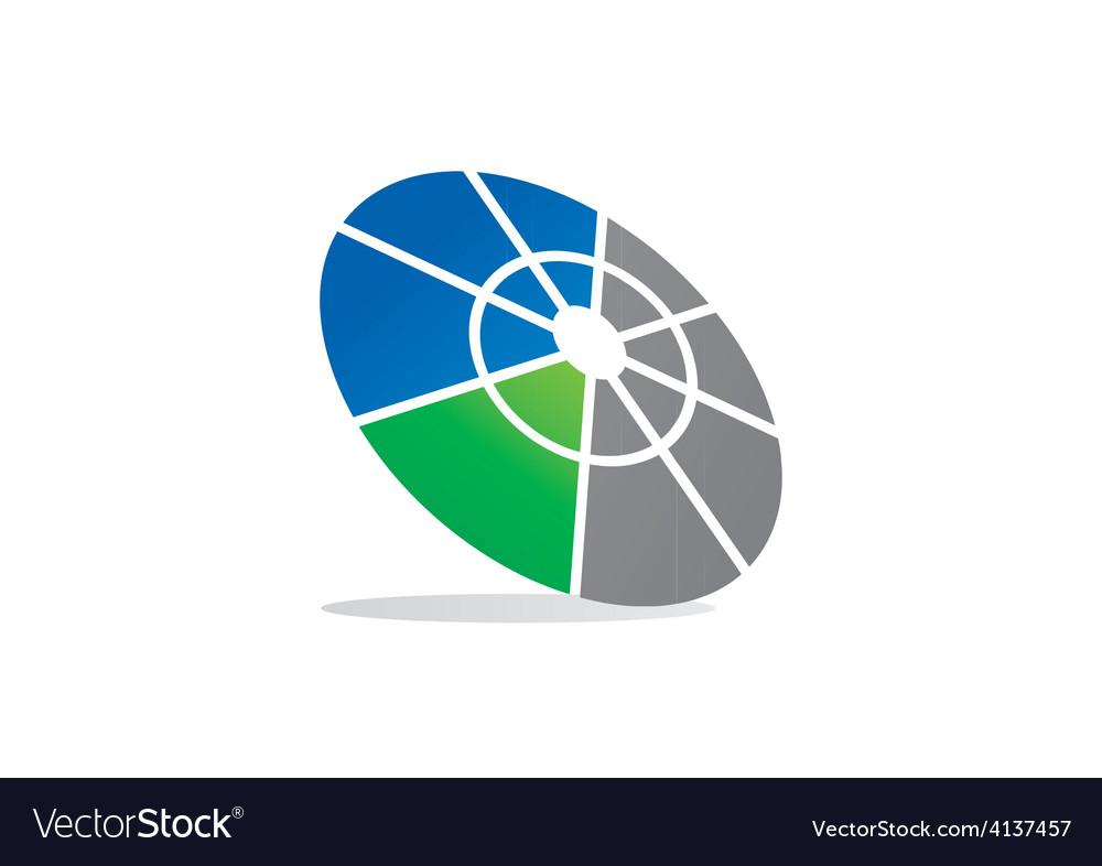 Round target business technology logo vector | Price: 1 Credit (USD $1)