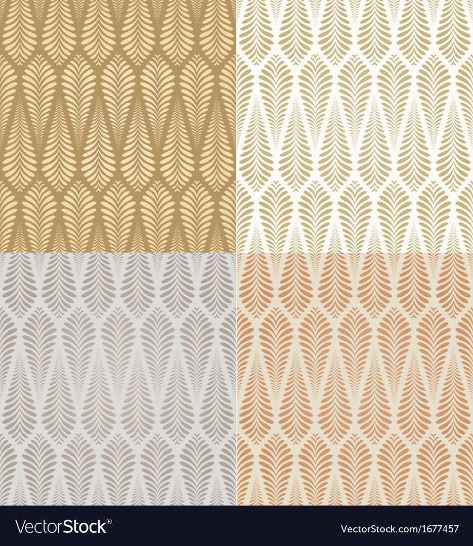 Seamless gold foliage pattern vector | Price: 1 Credit (USD $1)