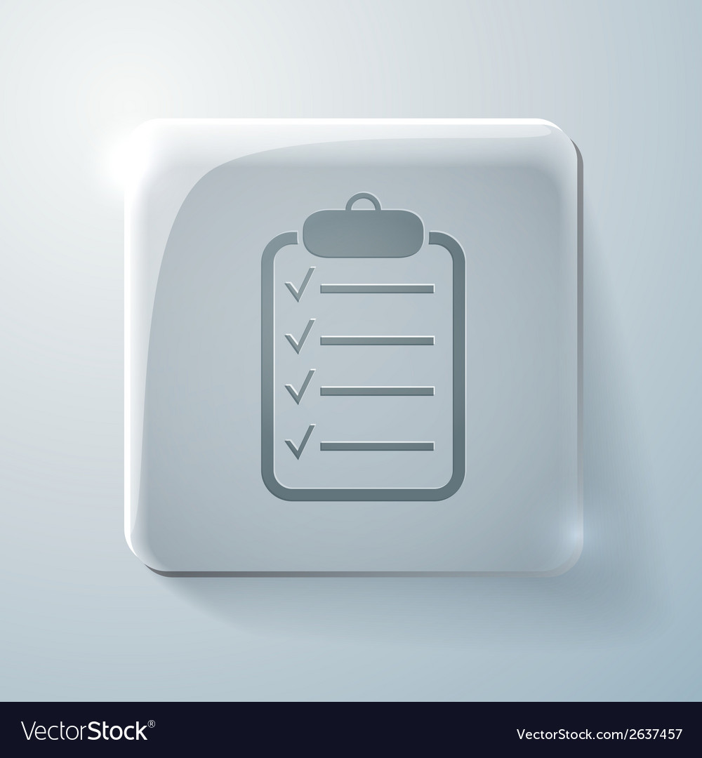 Sheet of paper glass square icon vector | Price: 1 Credit (USD $1)