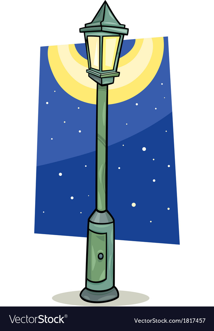 Streetlight lantern cartoon vector | Price: 1 Credit (USD $1)
