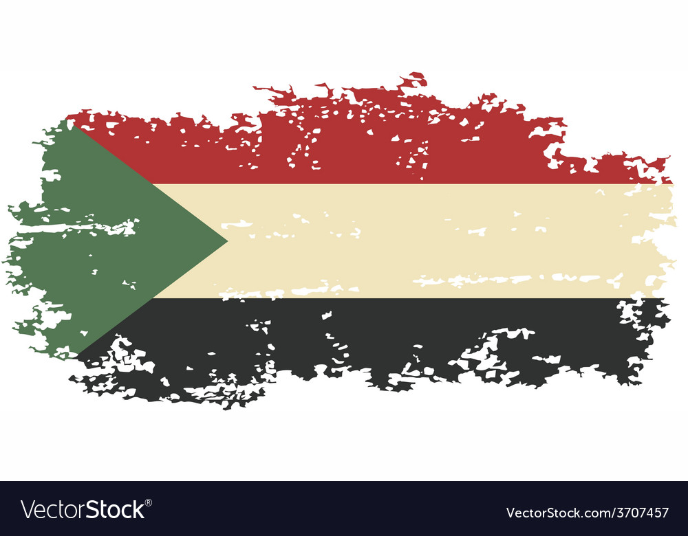 Sudanese grunge flag vector | Price: 1 Credit (USD $1)
