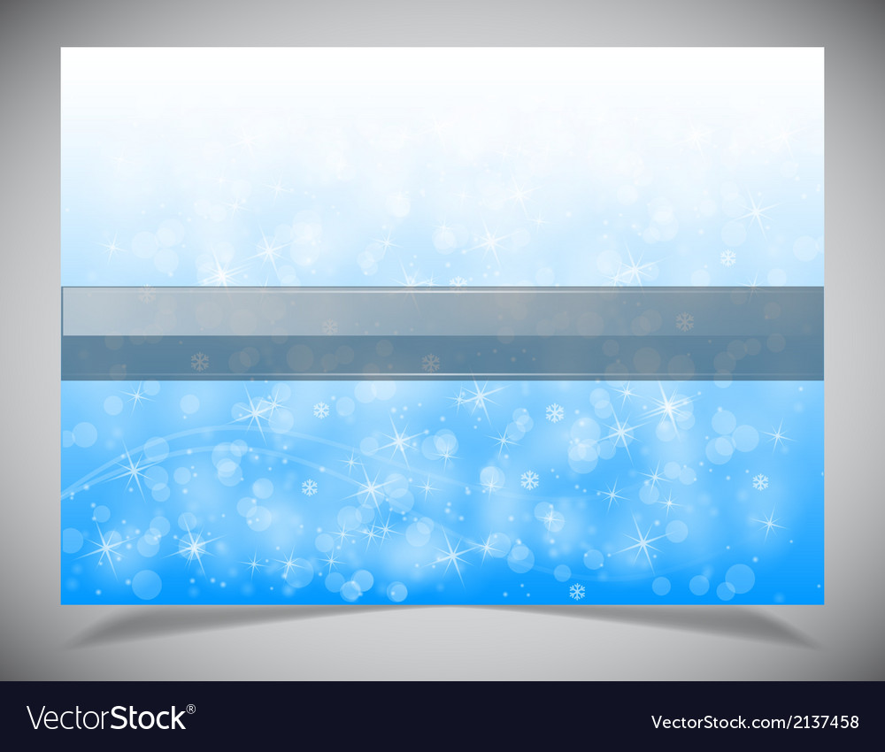 Abstract light winter backgound vector | Price: 1 Credit (USD $1)