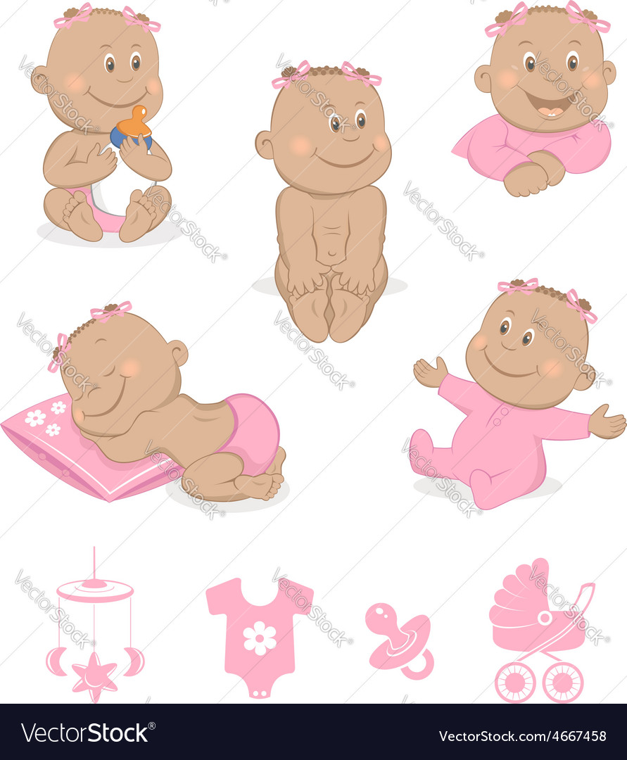 African baby girl set vector   Price: 1 Credit (USD $1)