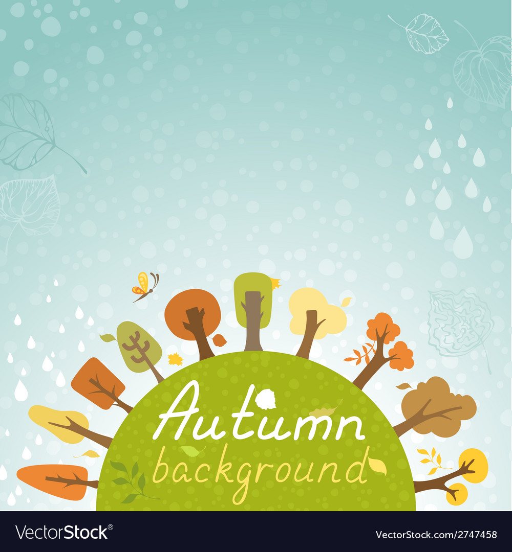 Autumnal square background vector | Price: 1 Credit (USD $1)