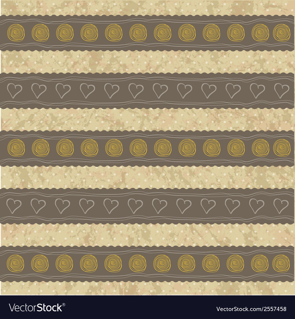 Beautiful and vintage seamless background vector | Price: 1 Credit (USD $1)