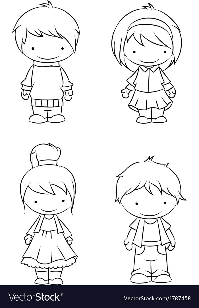 Boys and girls vector | Price: 1 Credit (USD $1)