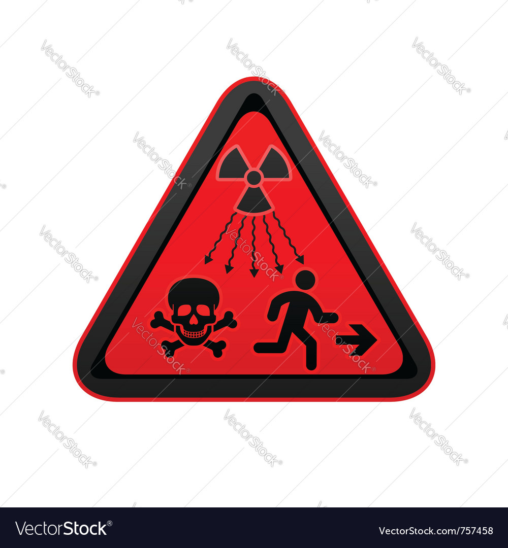 Hazard warning radiation symbol vector | Price: 1 Credit (USD $1)