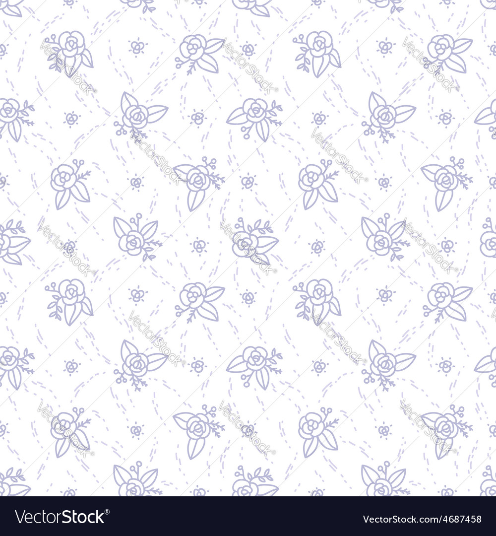 Little purple roses seamless pattern vector | Price: 1 Credit (USD $1)
