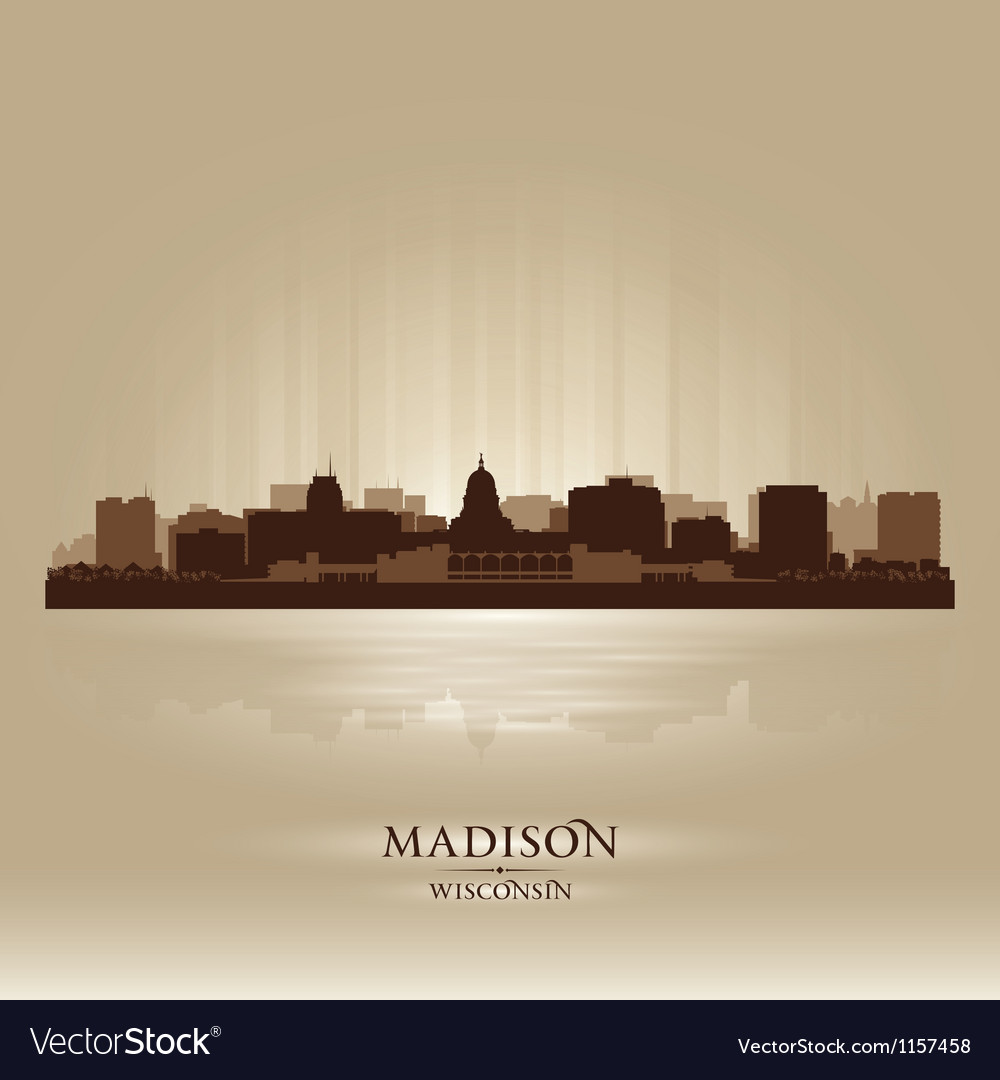 Madison wisconsin skyline city silhouette vector | Price: 1 Credit (USD $1)