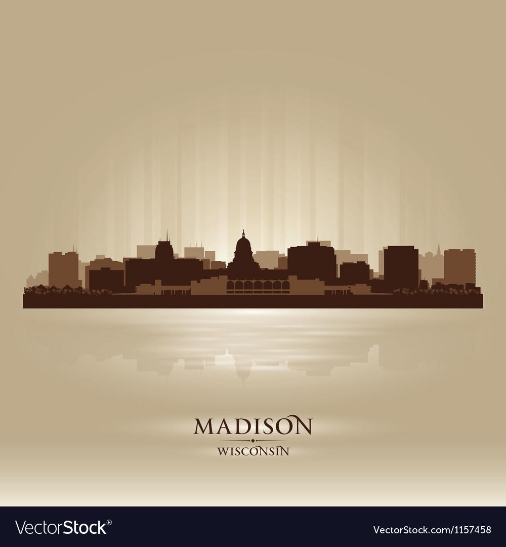 Madison wisconsin skyline city silhouette vector | Price: 1 Credit (USD $1)
