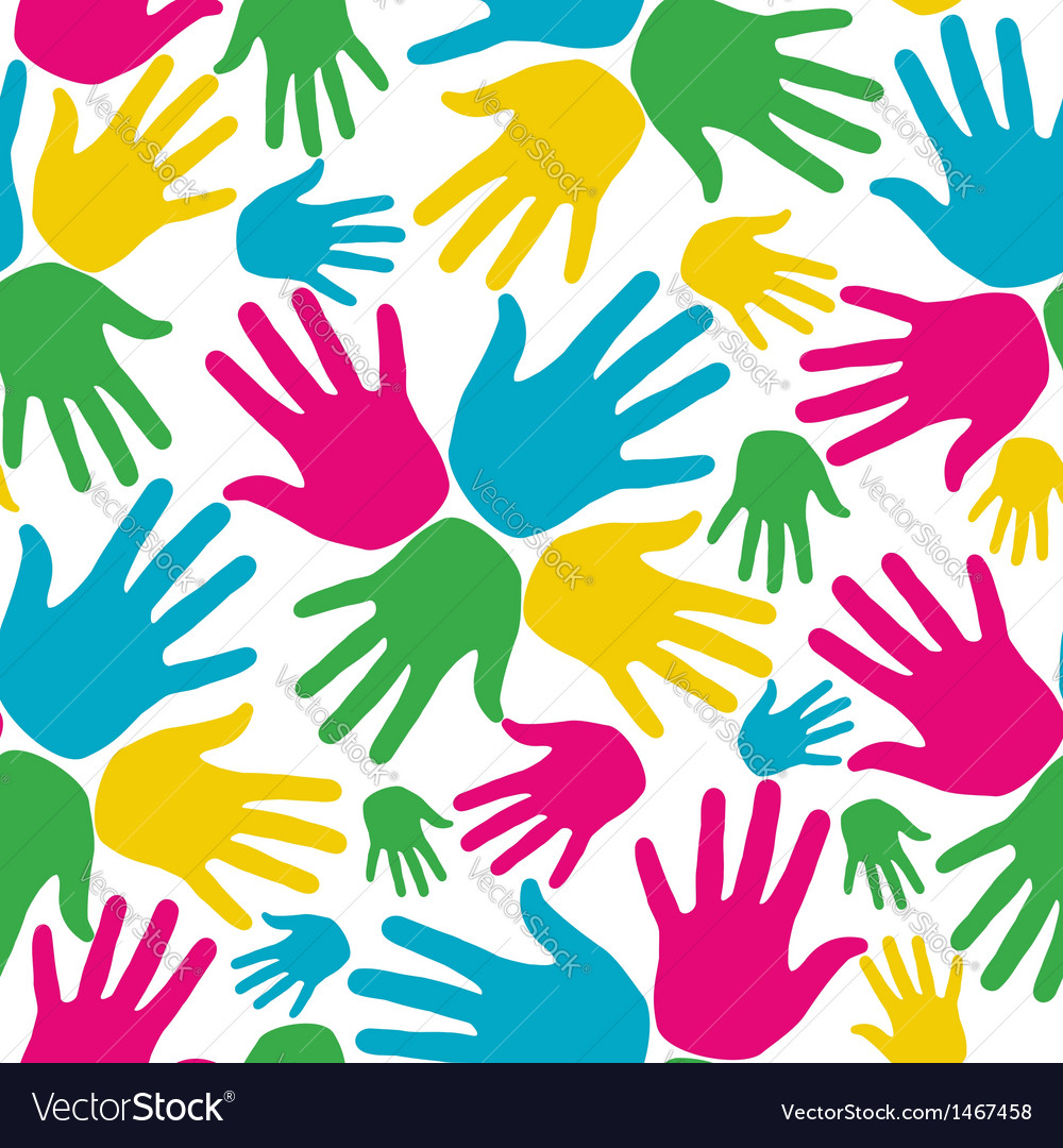 Social diversity hands seamless pattern vector | Price: 1 Credit (USD $1)