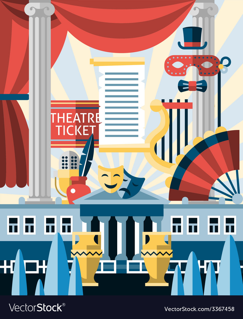 Theatre icons concept vector | Price: 1 Credit (USD $1)