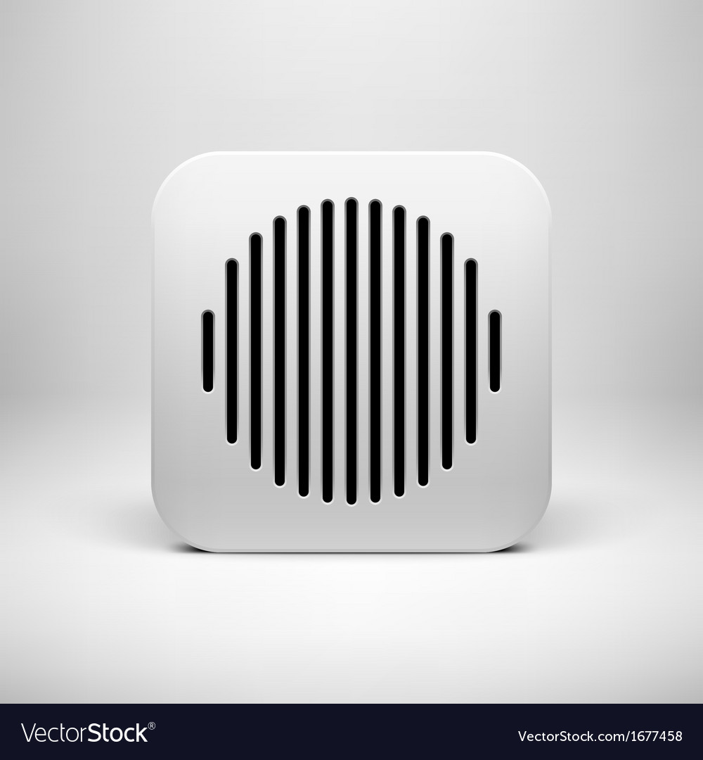 White abstract app icon template vector | Price: 1 Credit (USD $1)