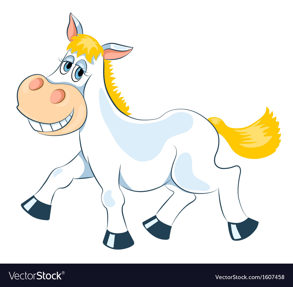 White mad horse vector | Price: 1 Credit (USD $1)