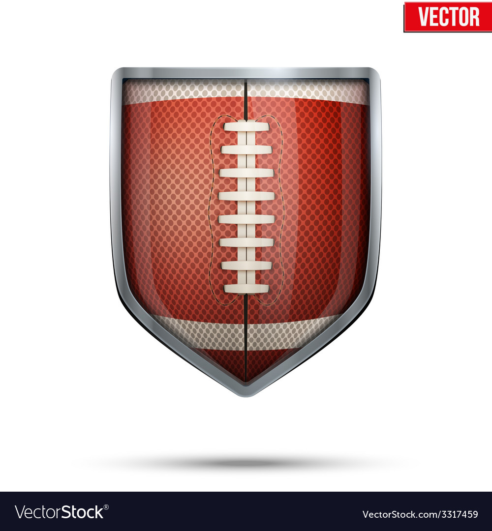 Bright shield in the american football ball inside vector | Price: 1 Credit (USD $1)